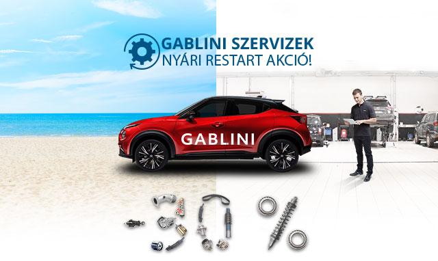 Gablini Szerviz 30% kedvezménnyel csak júliusban!